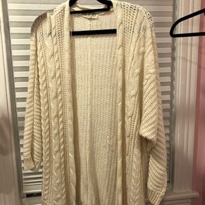 Cream Cable Knit Cardigan